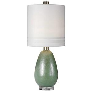 Uttermost Lamps Aileana Rust Green Glass Lamp