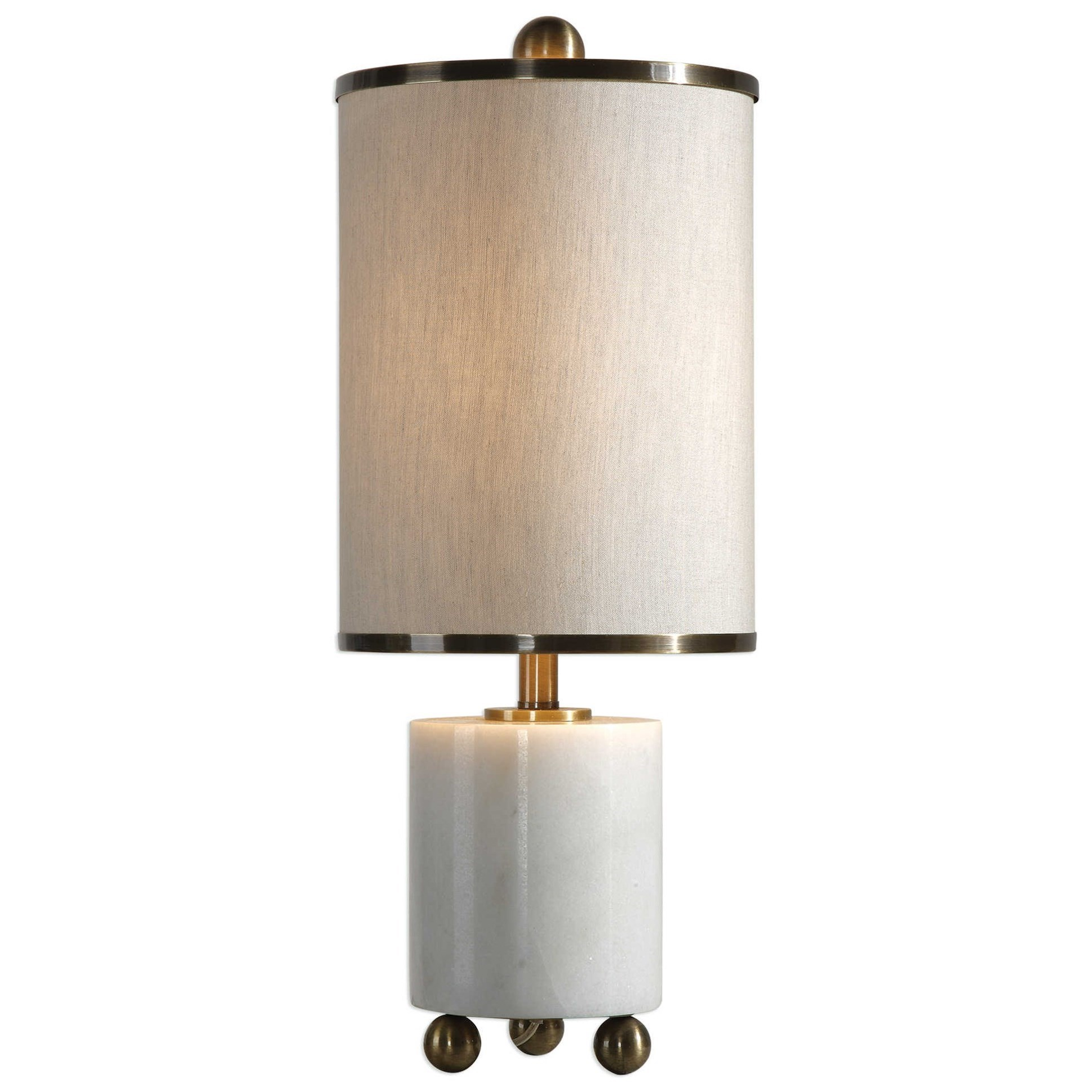 Accent Lamps Meelagh White Marble Lamp by Uttermost at Sprintz Furniture