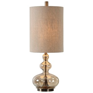 Formoso Amber Glass Table Lamp