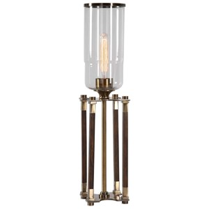 Rostand Wood Column Lamp