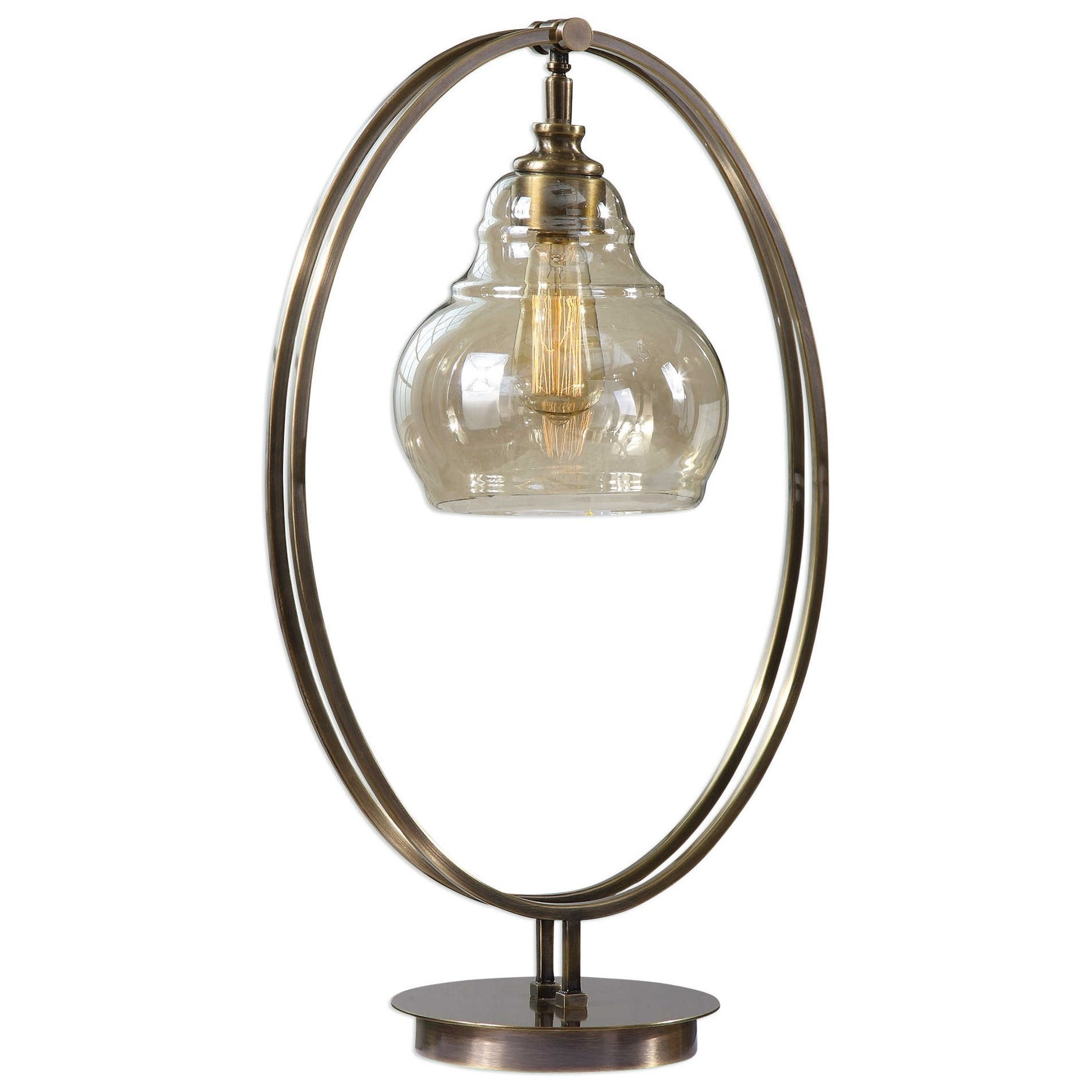 Elliptical Brass Edison Bulb Lamp