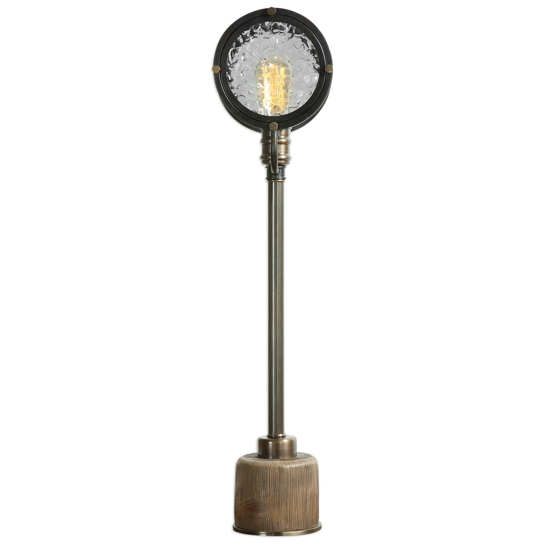 Accent Lamps Gavia Iron Column Lamp by Uttermost at Upper Room Home Furnishings