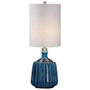 Uttermost Lamps Amaris Blue Ceramic Lamp