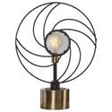 Uttermost Accent Lamps Ventilador Black Accent Lamp - Item Number: 29589-1
