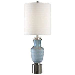 Uttermost Lamps Acciano Frosted Blue Lamp