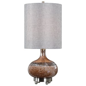 Judsonia Rust Glass Accent Lamp
