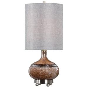 Judsonia Rust Glass Accent Lamp