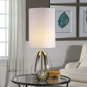 Avola Nickel Bands Lamp