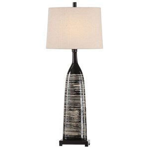 Kanza Gloss Black Lamp