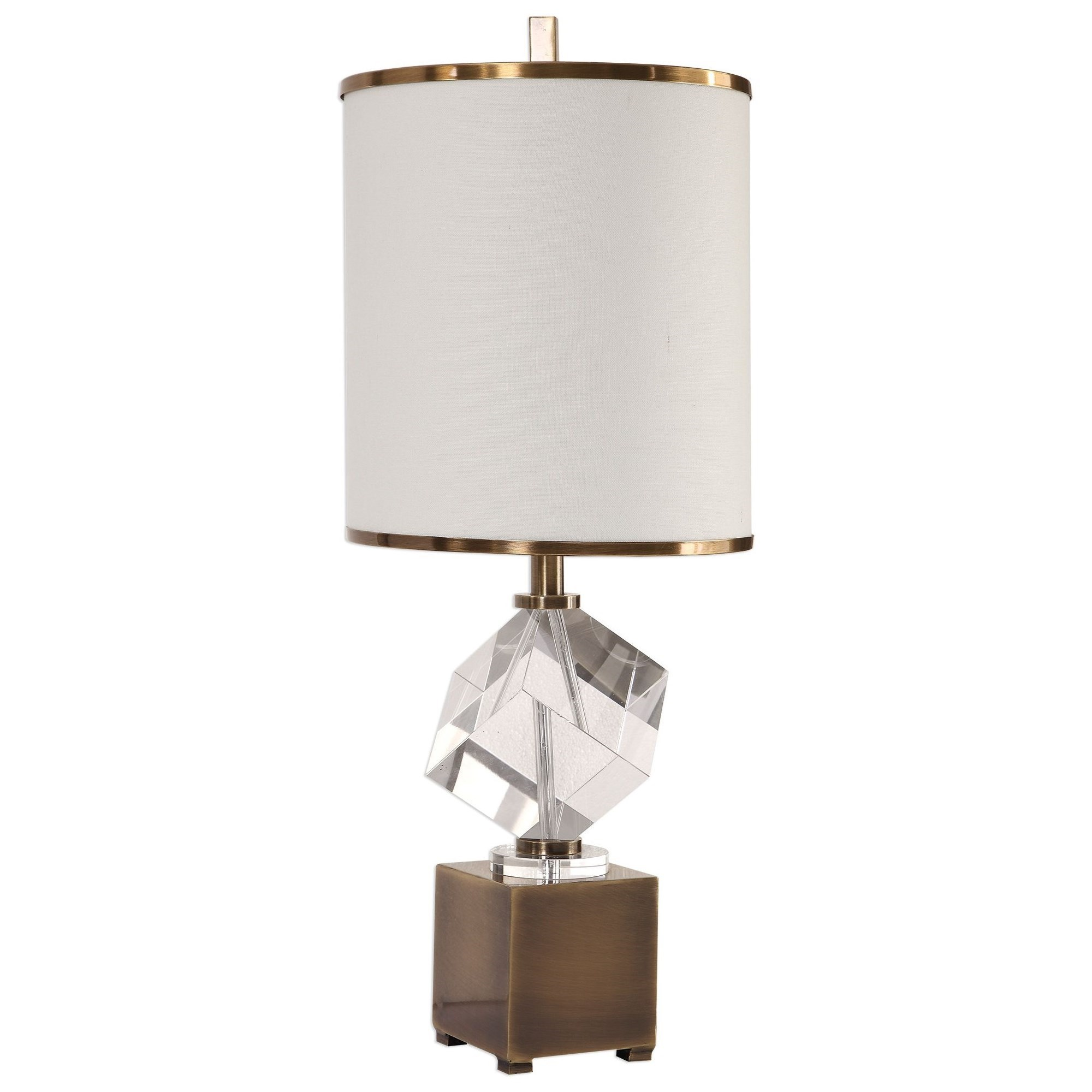 Accent Lamps Cristino Crystal Cube Lamp by Uttermost at Suburban Furniture