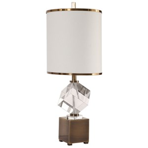 Uttermost Lamps Cristino Crystal Cube Lamp