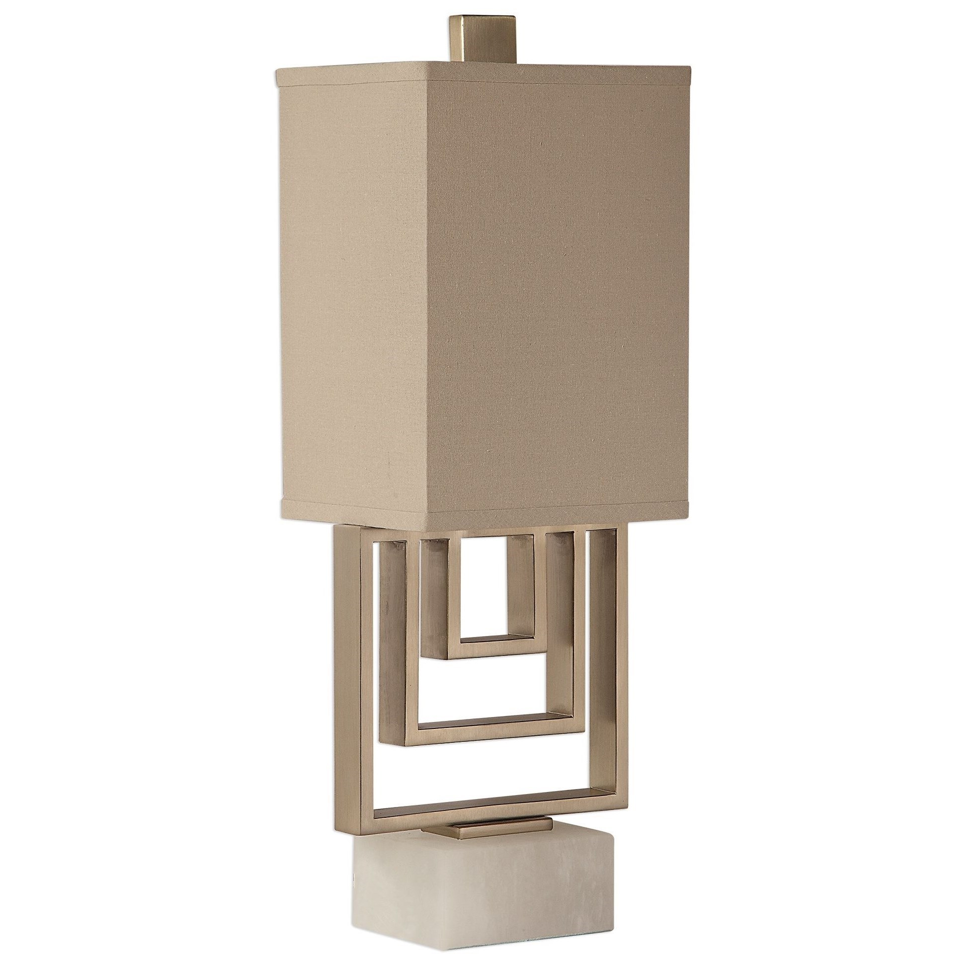 Accent Lamps Medora Brushed Nickel Lamp by Uttermost at Suburban Furniture