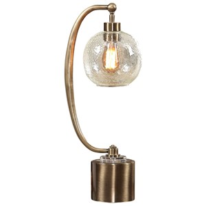 Uttermost Lamps Gacinia Seeded Glass Globe Lamp