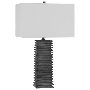 Sanderson Metallic Charcoal Table Lamp