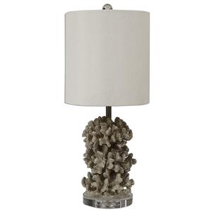 Uttermost Lamps Silver Coral Table Lamp