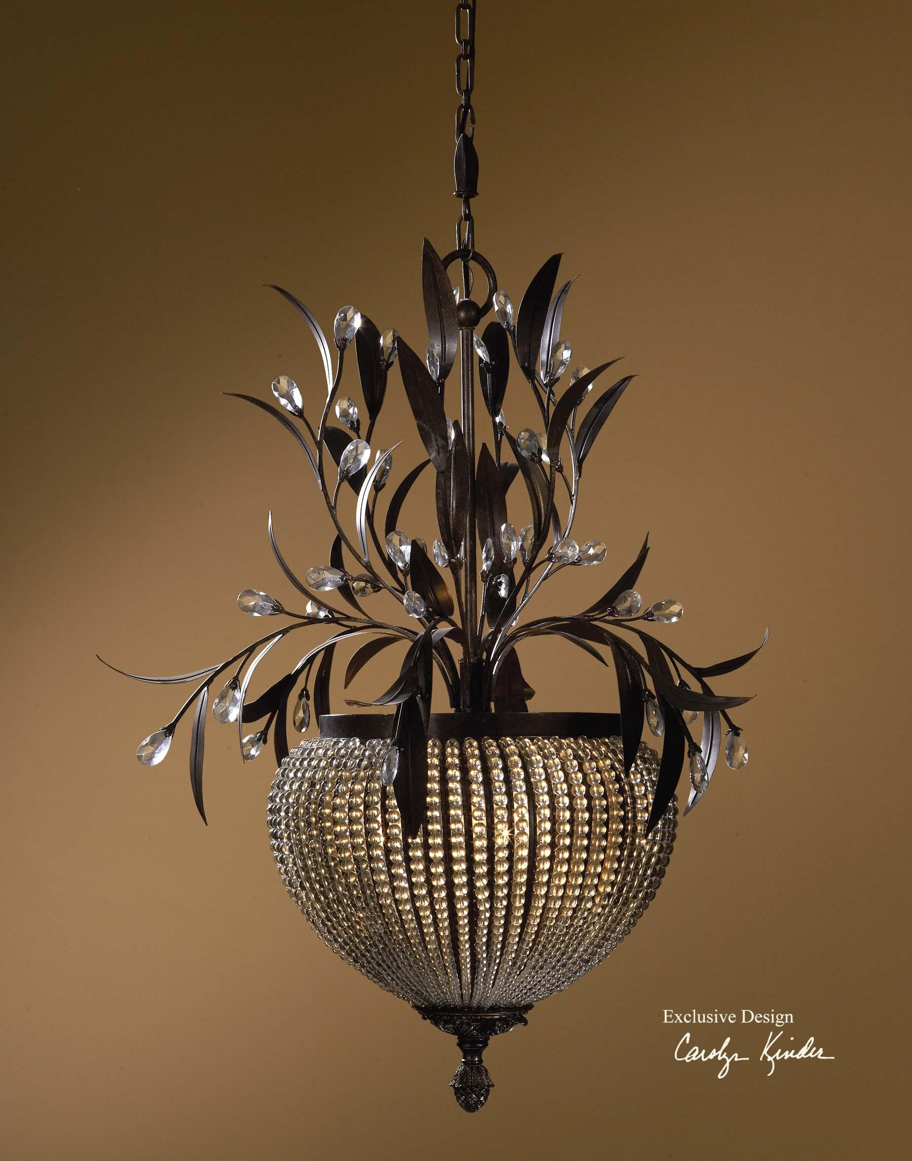 Uttermost Lighting Fixtures Cristal De Lisbon 3-Light Chandelier - Item Number: 21004
