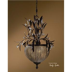 Uttermost Lighting Fixtures Cristal De Lisbon 3-Light Chandelier