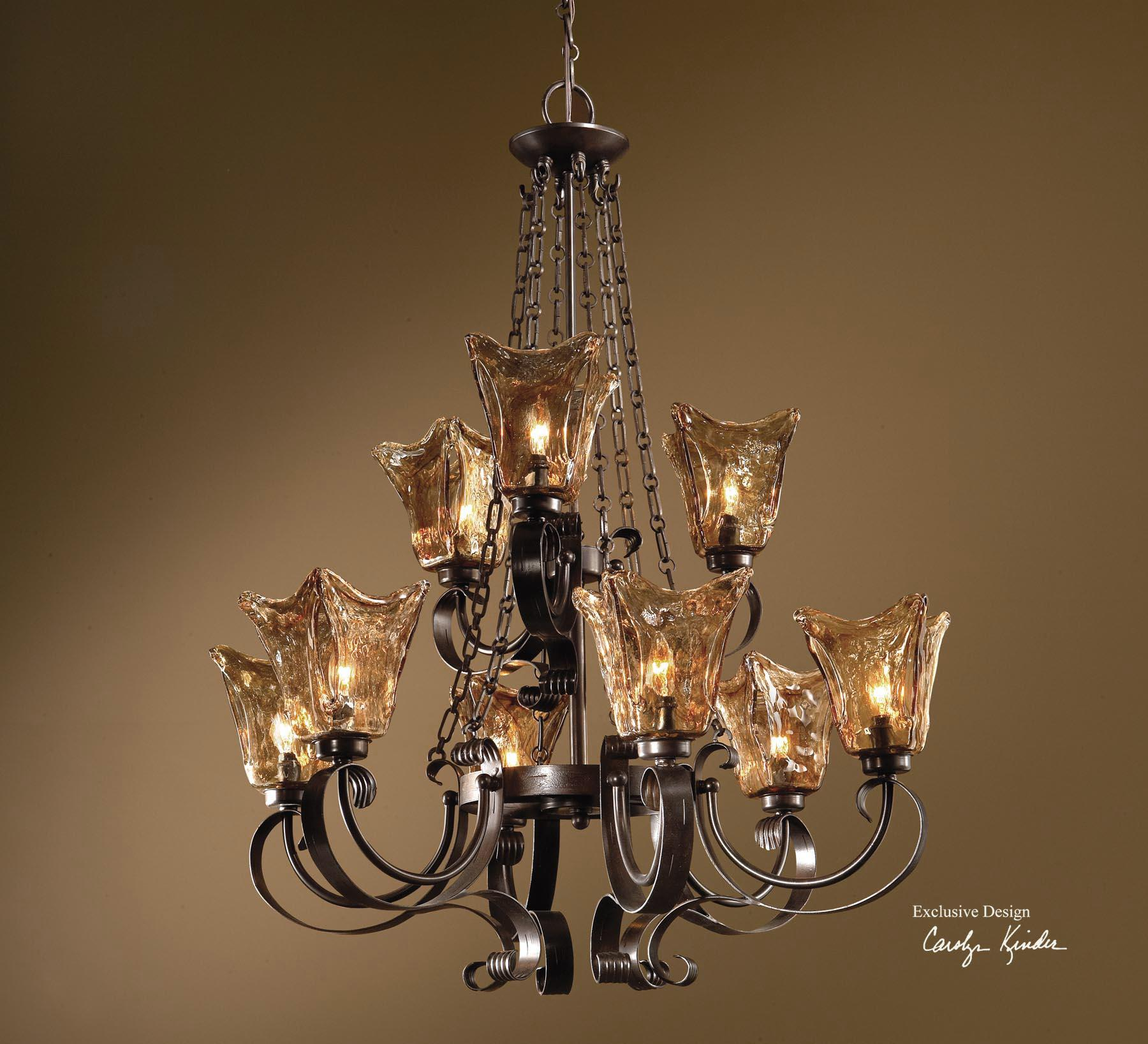 Uttermost Lighting Fixtures Vetraio 9-Light Chandelier - Item Number: 21005