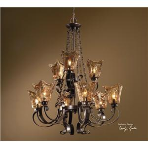 Uttermost Lighting Fixtures Vetraio 9-Light Chandelier