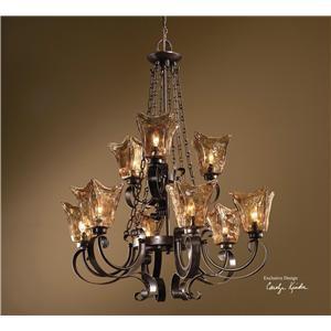 uttermost lighting fixtures vetraio 9 light chandelier - Uttermost Lights