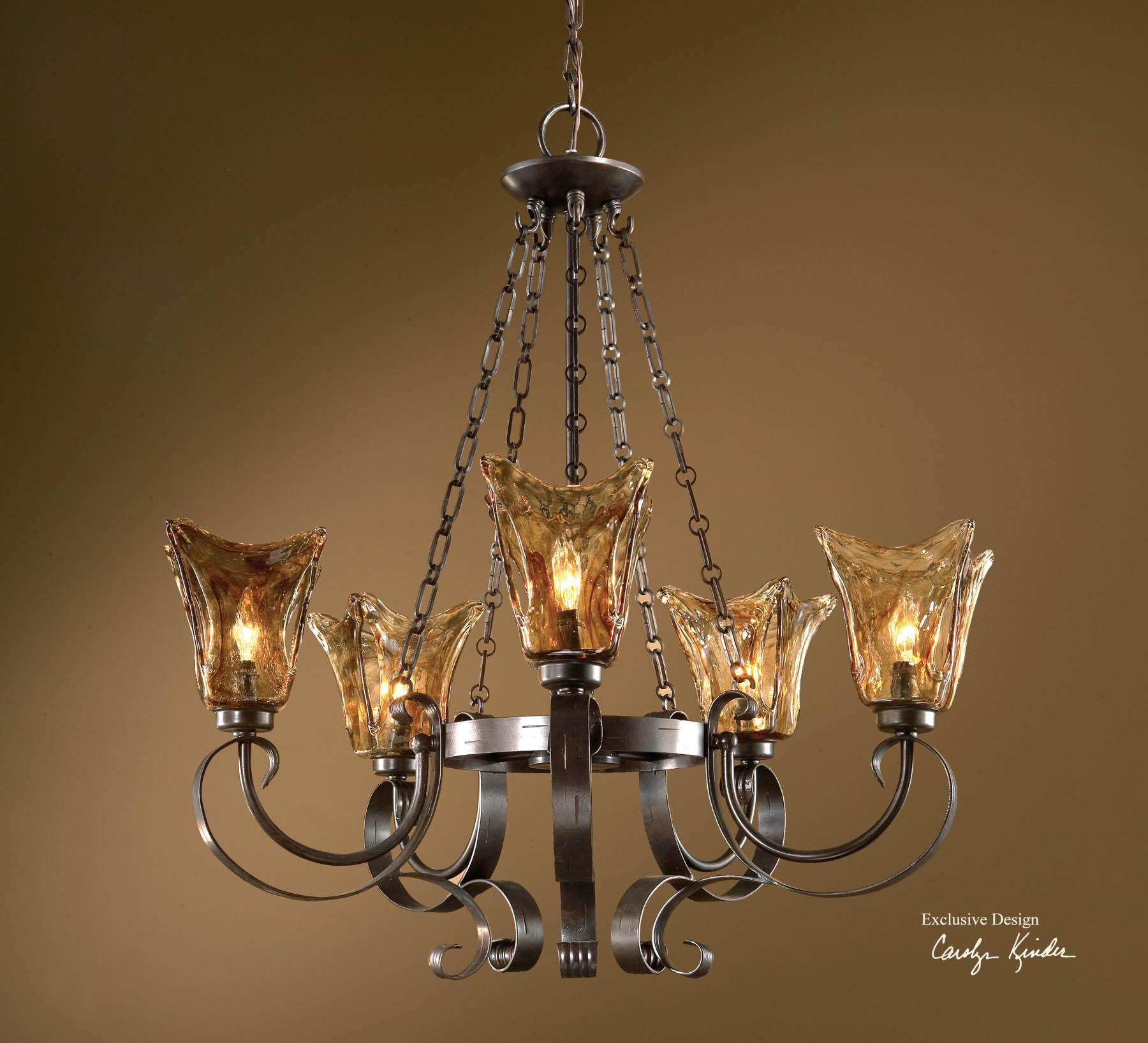 Uttermost Lighting Fixtures Vetraio 5-Light Chandelier - Item Number: 21007