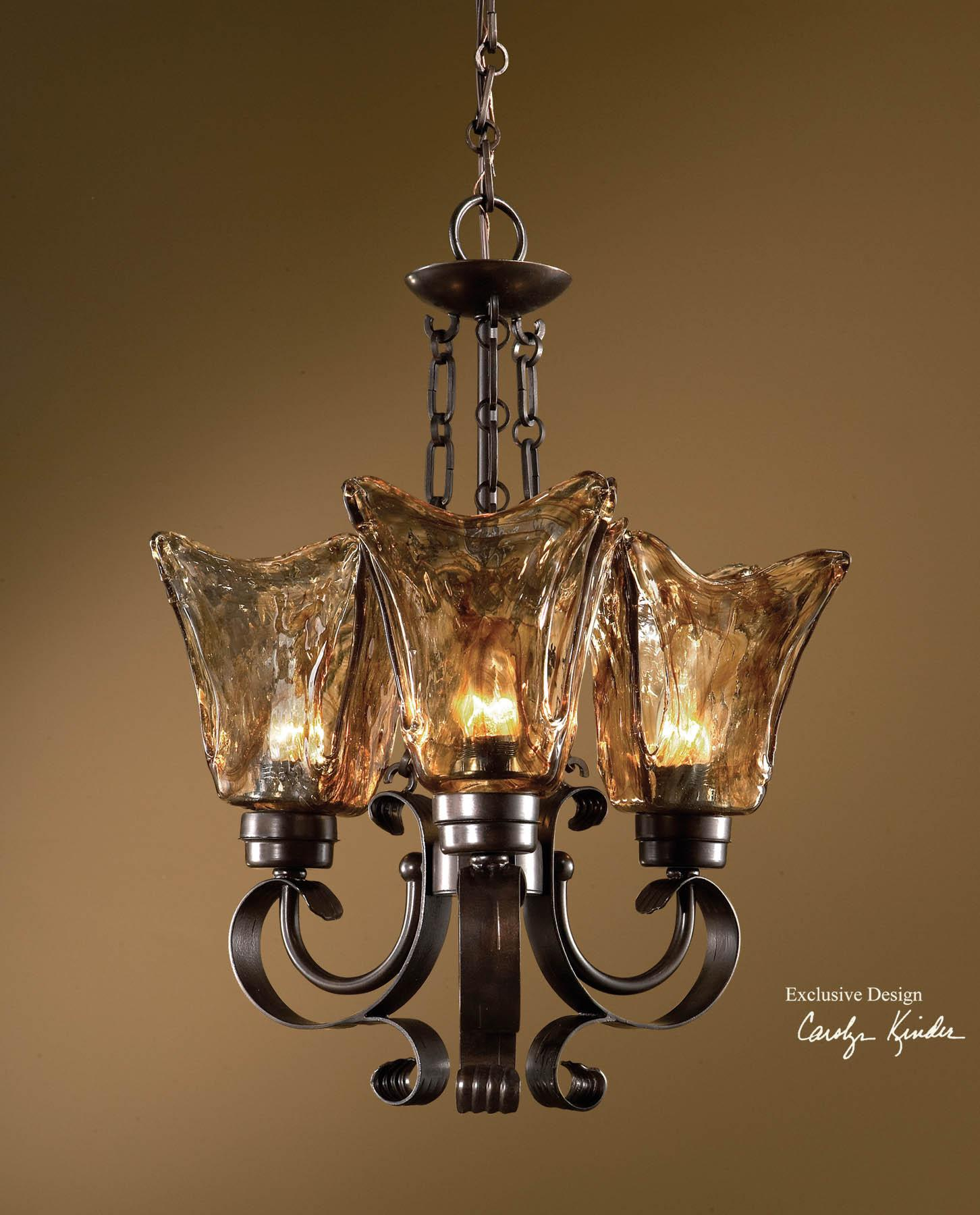 Uttermost Lighting Fixtures Vetraio 3-Light Chandelier - Item Number: 21008