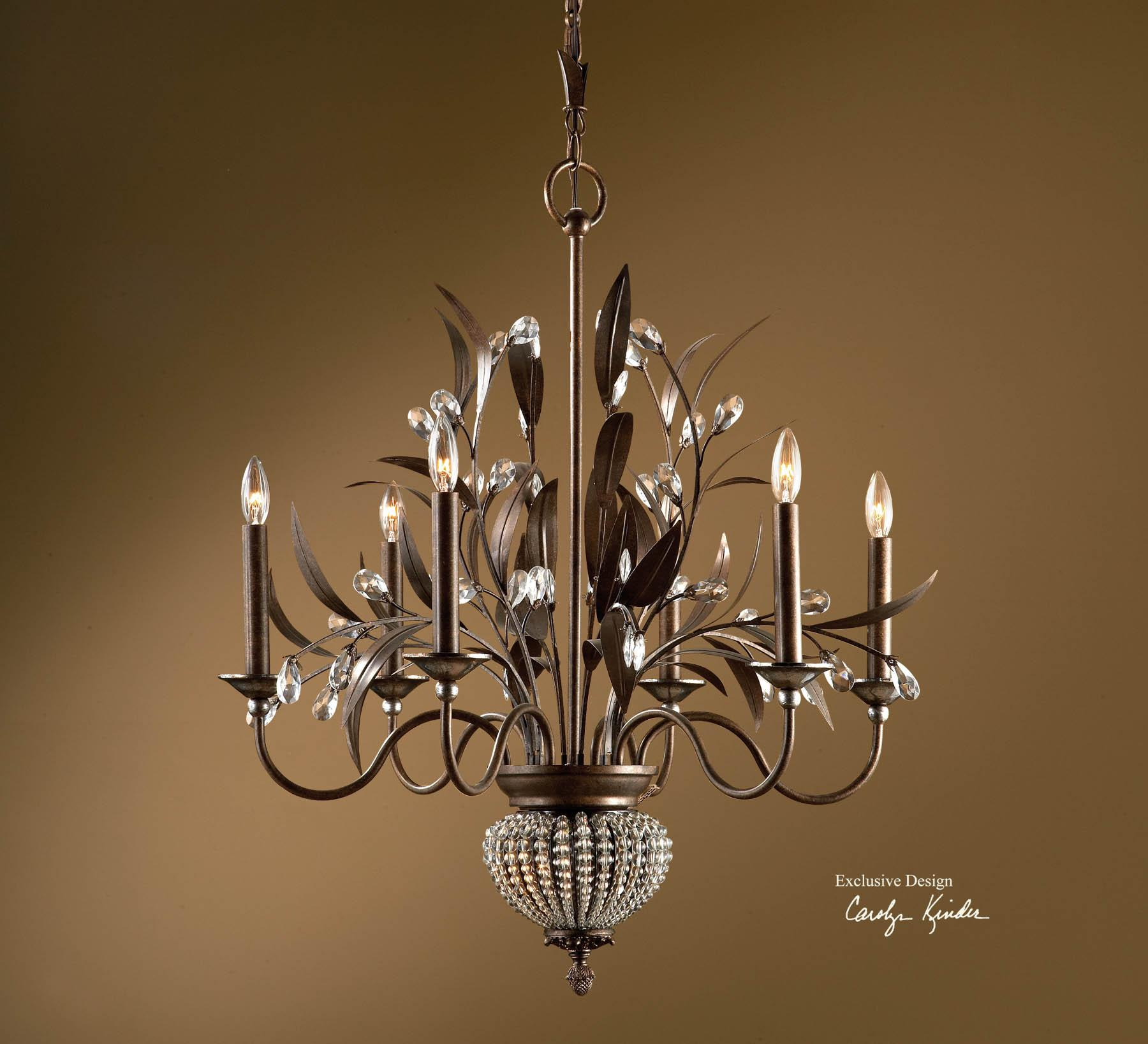 Uttermost Lighting Fixtures Cristal De Lisbon 6+2 Light Chandelier - Item Number: 21017