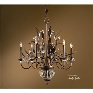 Uttermost Lighting Fixtures Cristal De Lisbon 6+2 Light Chandelier