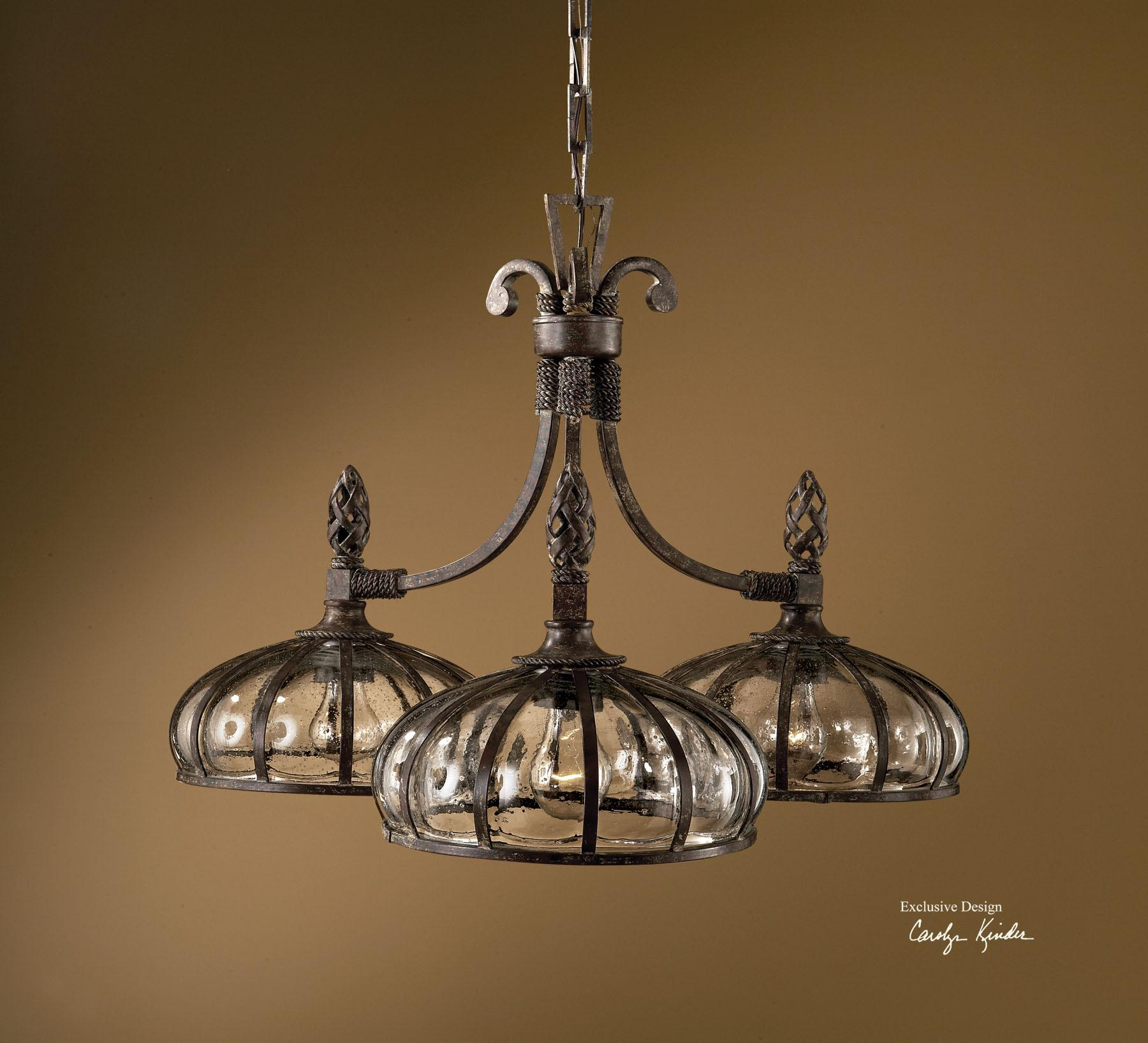Uttermost Lighting Fixtures Galeana 3-Light Chandelier - Item Number: 21046