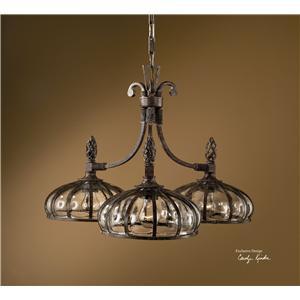 Uttermost Lighting Fixtures Galeana 3-Light Chandelier