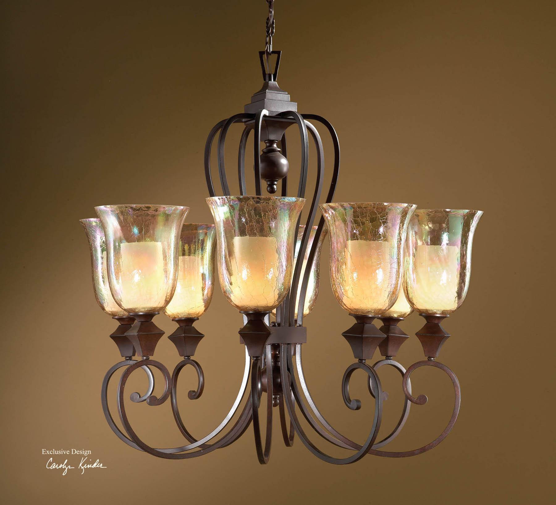 Uttermost Lighting Fixtures Elba 8-Light Chandelier - Item Number: 21049