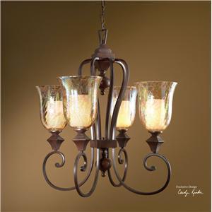 Uttermost Lighting Fixtures Elba 4-Light Chandelier