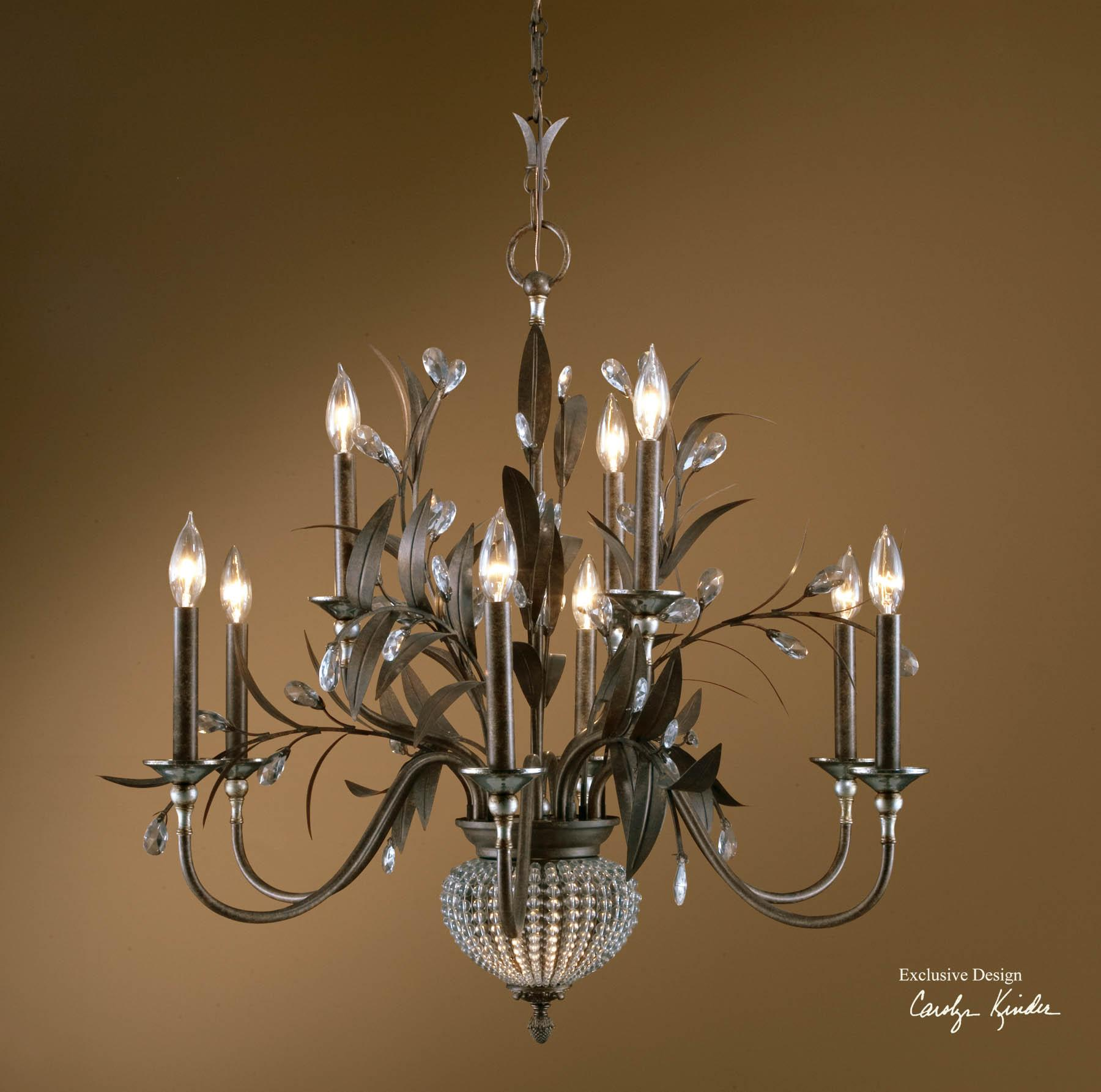 Uttermost Lighting Fixtures Cristal De Lisbon 9+2 Light Chandelier - Item Number: 21094