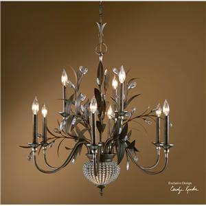 Uttermost Lighting Fixtures Cristal De Lisbon 9+2 Light Chandelier