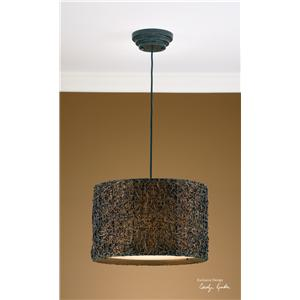 Uttermost Lighting Fixtures Knotted Rattan Hanging Shade