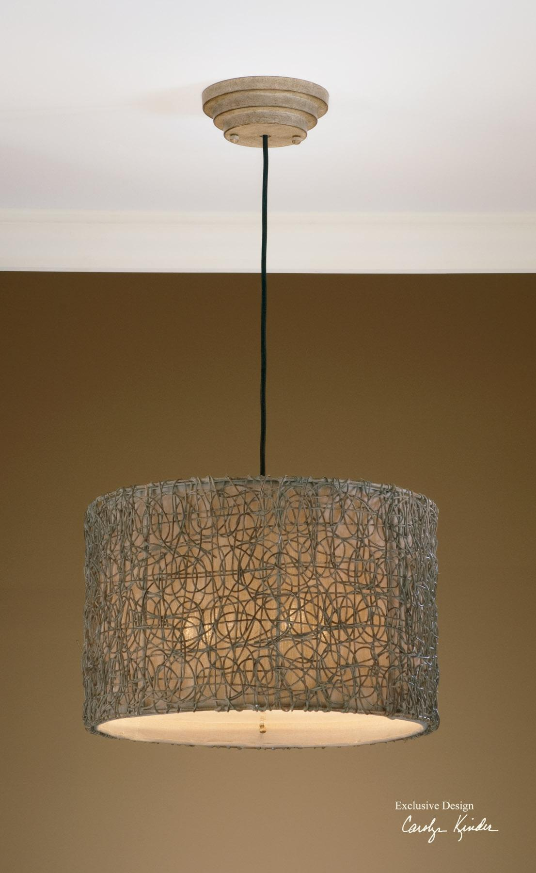 Uttermost Lighting Fixtures Knotted Rattan Light Hanging Shade - Item Number: 21105