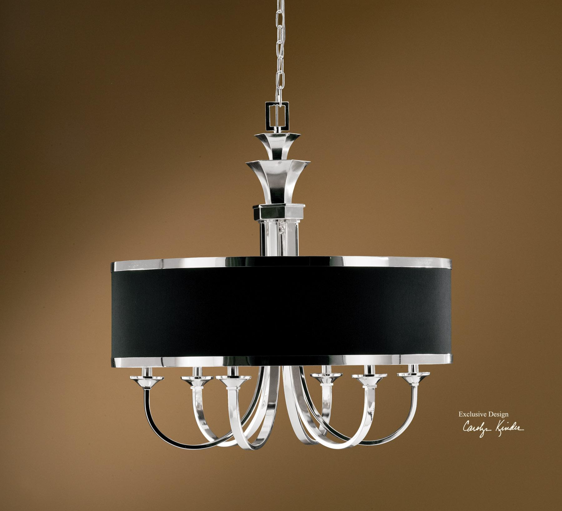 Uttermost Lighting Fixtures Tuxedo 6-Light Single Shade Chandelier - Item Number: 21130