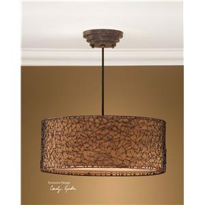 Uttermost Lighting Fixtures Brandon 3 Light Hanging Shade