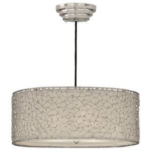 Brandon Silver 3 Light Hanging Shade