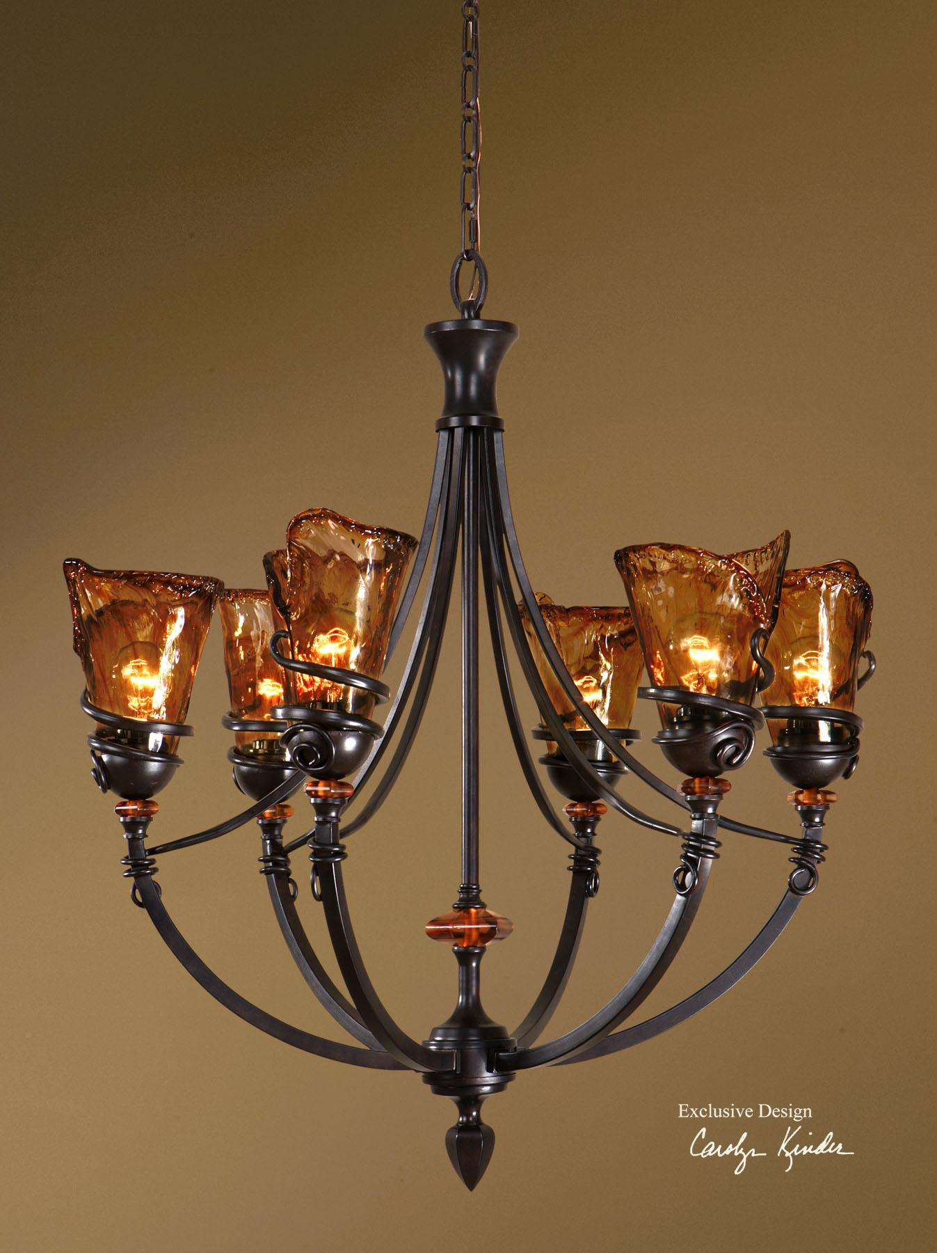 Uttermost Lighting Fixtures Vitalia 6 Light Chandelier - Item Number: 21227