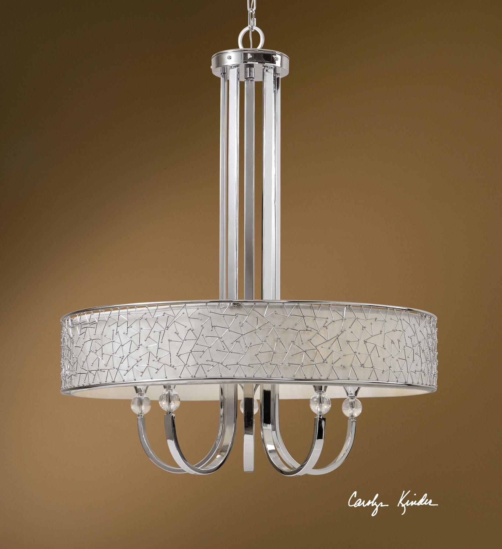 Uttermost Lighting Fixtures Brandon 5 Light Single Shade Chandelier - Item Number: 21233