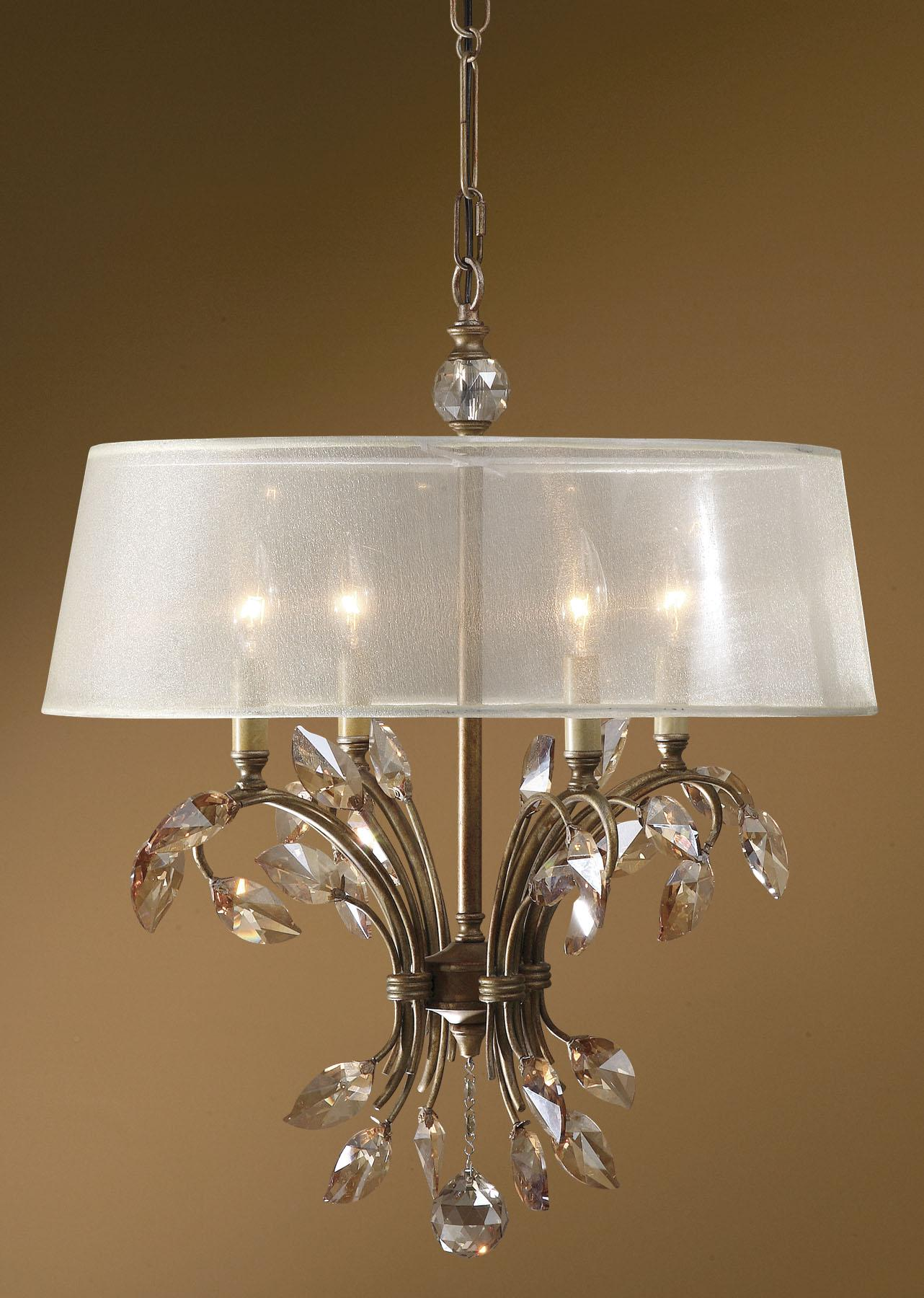 Uttermost Lighting Fixtures Alenya 4 Light Chandelier - Item Number: 21245