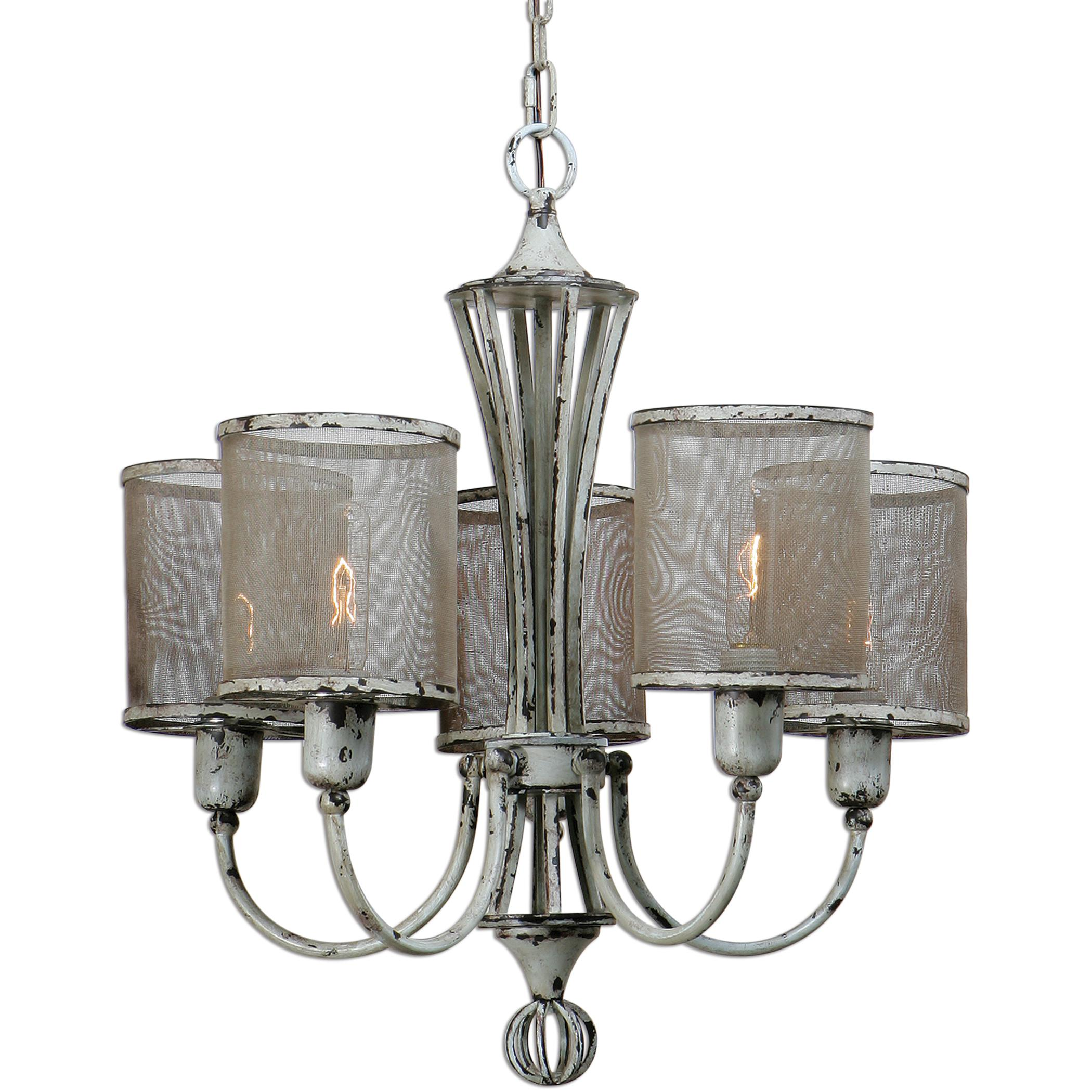 Uttermost Lighting Fixtures Uttermost Pontoise 5 Light Vintage Chandelie - Item Number: 21259