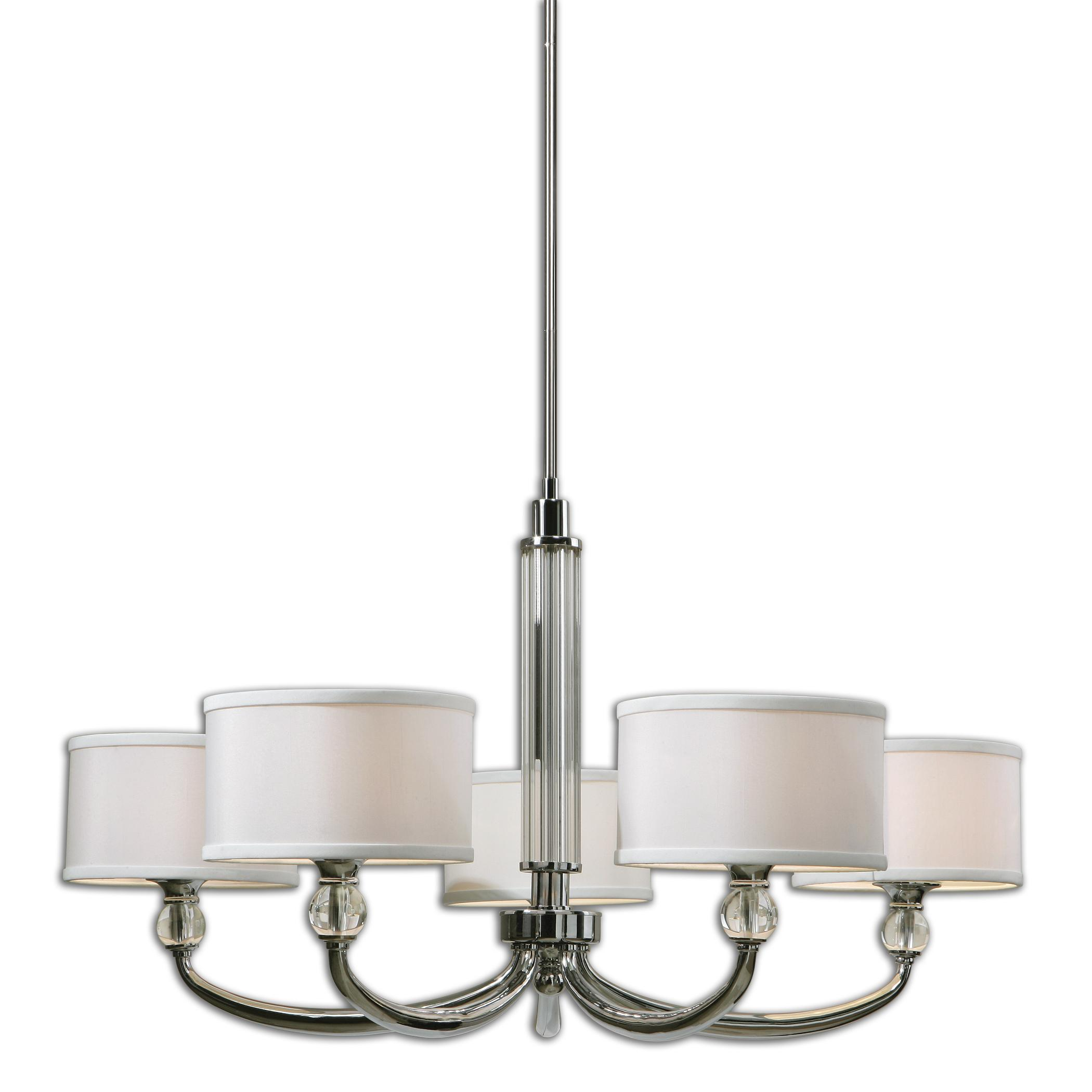 Uttermost Lighting Fixtures Uttermost Vanalen 5 Light Chrome Chandelier - Item Number: 21260