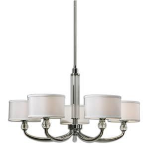 Uttermost Lighting Fixtures Vanalen 5 Light Chrome Chandelier