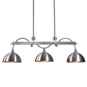Uttermost Lighting Fixtures Malcolm 3 Light Nickel Industrial Island Lig
