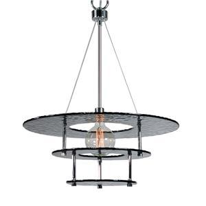Uttermost Lighting Fixtures Gyrus 1 Light Smoke Glass Chandelier