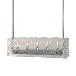 Uttermost Lighting Fixtures Cheminee 5 Light Textured Glass Chandelier