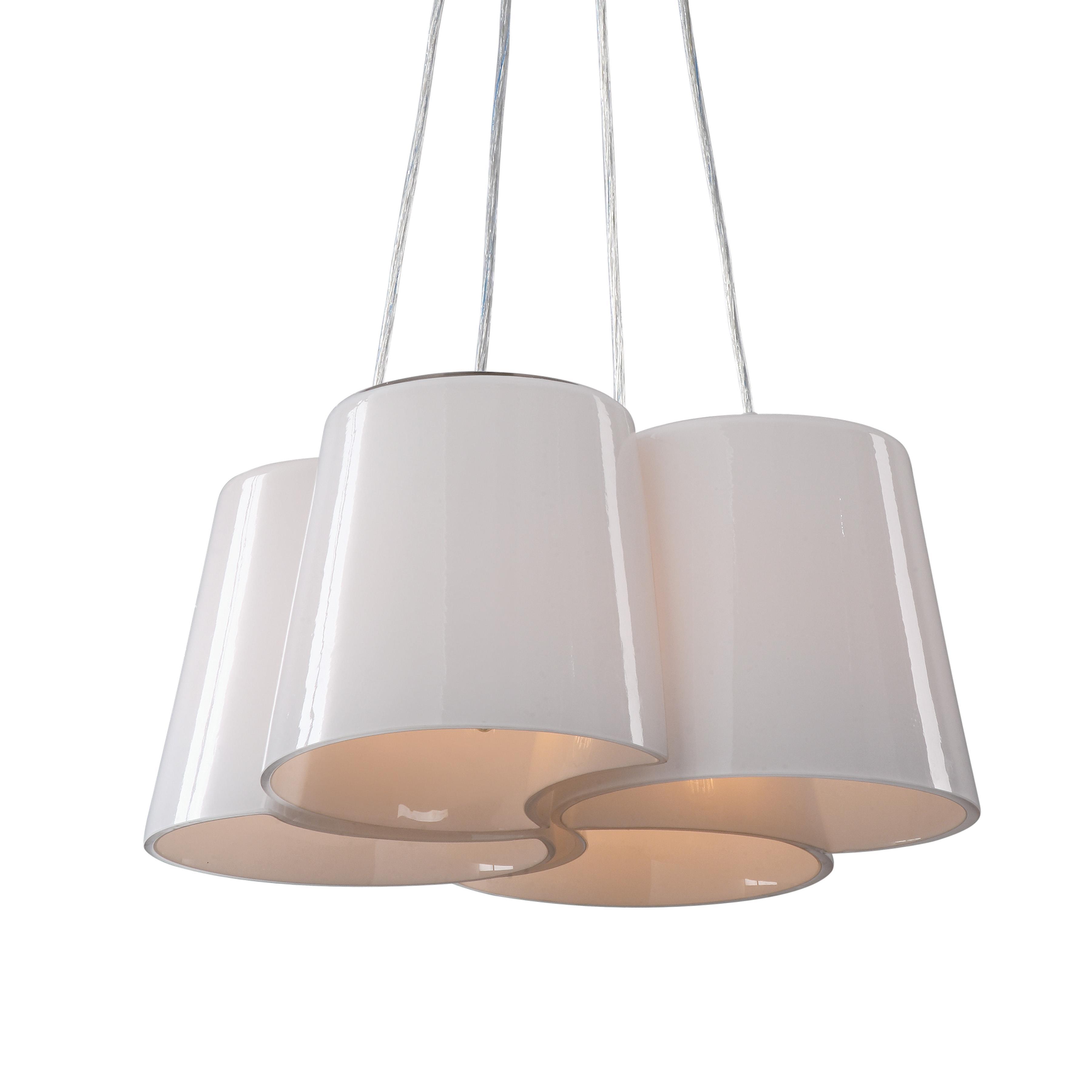 Uttermost Lighting Fixtures Botanic 4 Light Milk Glass Chandelier - Item Number: 21271