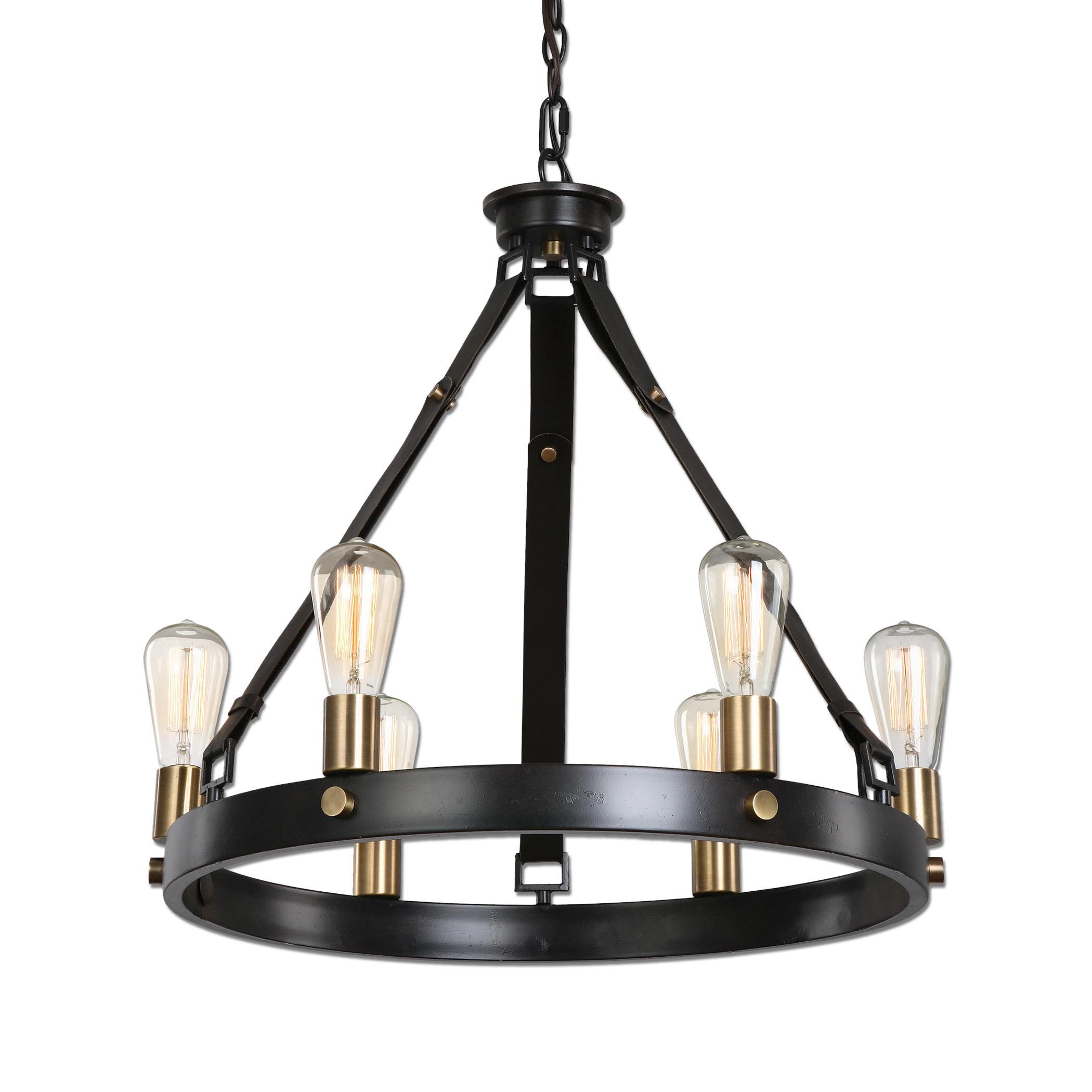 Uttermost Lighting Fixtures Marlow 6 Light Antique Bronze Chandelier - Item Number: 21273